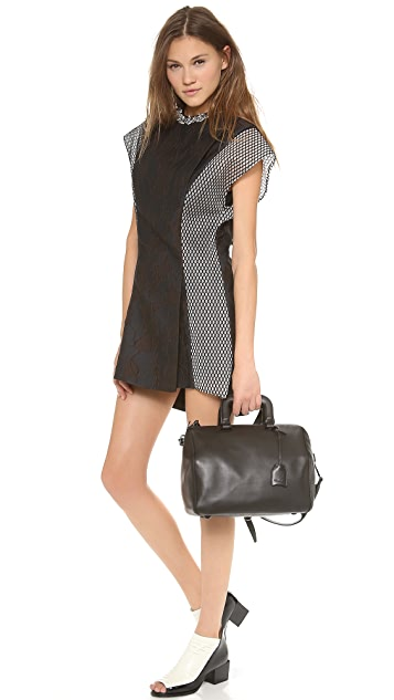 3.1 Phillip Lim Mesh Sleeve Dress with Crystals