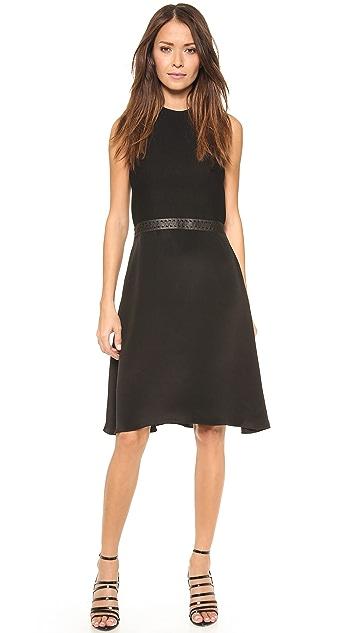 3.1 Phillip Lim Sleeveless Dress with Leather Belt