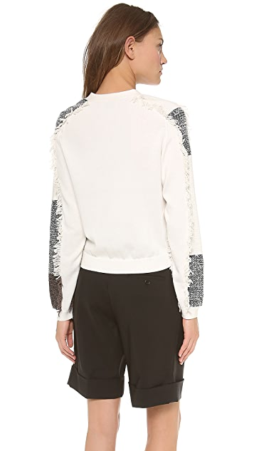 3.1 Phillip Lim Multicolor Fringed Cardigan