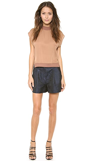 3.1 Phillip Lim Shell Top with Ribbed Edges