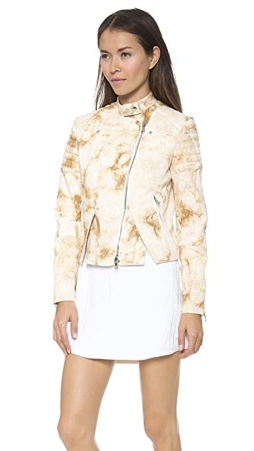 3.1 Phillip Lim Splattered Cutout Hem Jacket