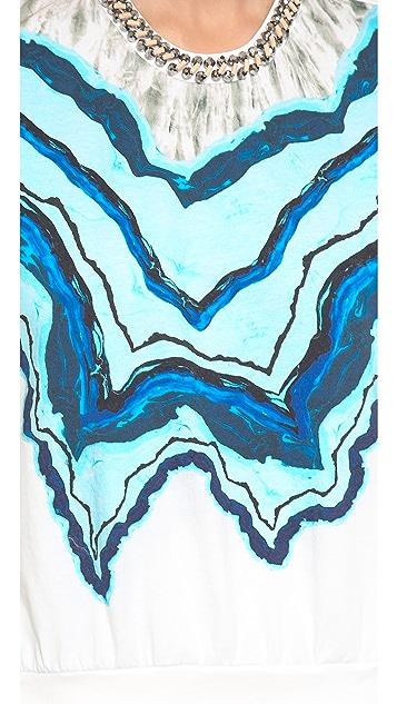 3.1 Phillip Lim Rock & Wood Neckline Printed Tee