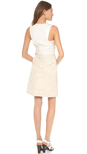 3.1 Phillip Lim Twisted Origami Pleated Dress