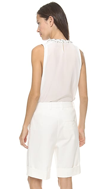 3.1 Phillip Lim Crystal Crew Neck Tank