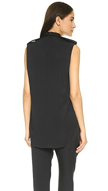 3.1 Phillip Lim Rolled Neck Tank with Epaulets