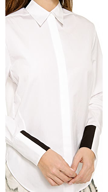 3.1 Phillip Lim Shadow Button Down Shirt