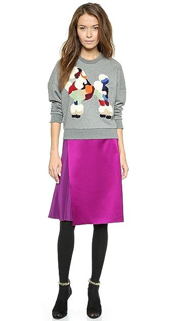 3.1 Phillip Lim Asymmetrical Overlay Skirt
