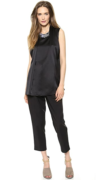 3.1 Phillip Lim Draped Front Embellished Top