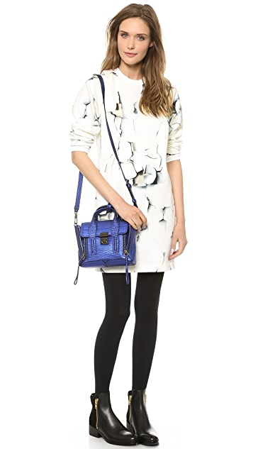 3.1 Phillip Lim Folded Printed Sweatshirt Dress