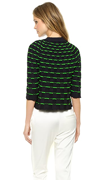 3.1 Phillip Lim Contrast Yarn Knit Pullover