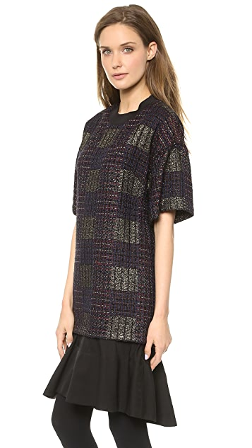 3.1 Phillip Lim Tweed Flounce Mini Dress