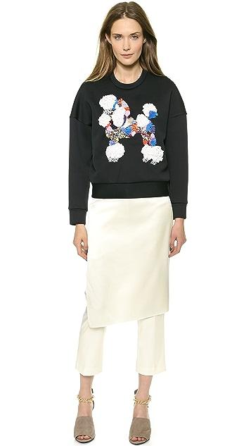 3.1 Phillip Lim Mixed Media Poodle Sweatshirt