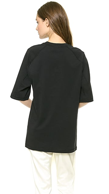 3.1 Phillip Lim Oversized Poodle Patch Tee