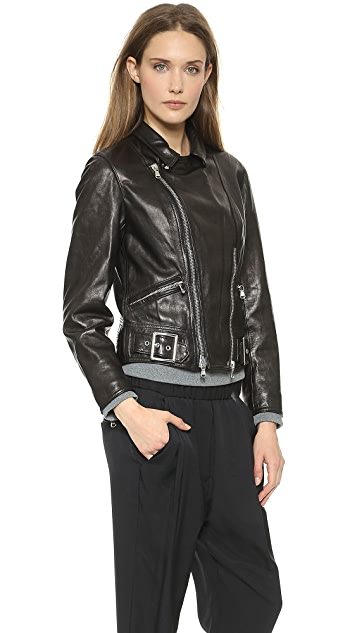 3.1 Phillip Lim Sculpted Leather Moto Jacket