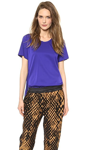 3.1 Phillip Lim Overlapping Side Seam Tee