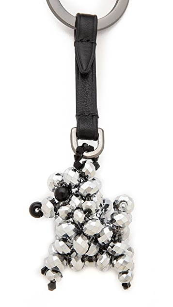 3.1 Phillip Lim Poodle Beaded Keychain