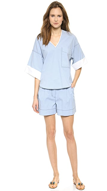 3.1 Phillip Lim Oversized Chambray Shirt