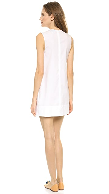 3.1 Phillip Lim Pintuck Dress with Silk Insets