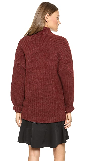 3.1 Phillip Lim Zip Up Alpaca Cardigan