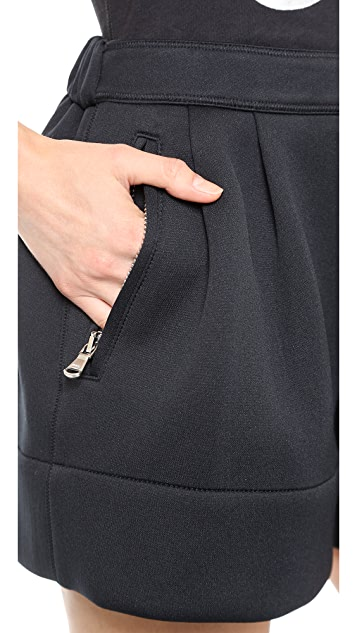 3.1 Phillip Lim Pleated Neoprene Shorts