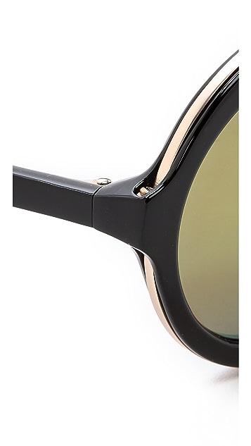 3.1 Phillip Lim Thick Rim Round Sunglasses