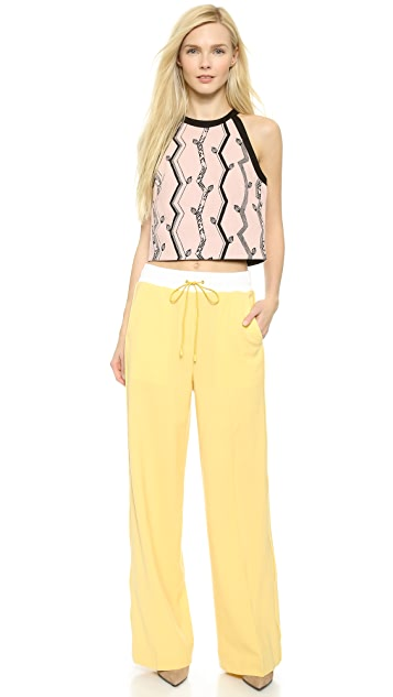 3.1 Phillip Lim Jacquard Crop Top
