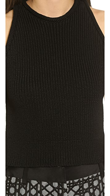 3.1 Phillip Lim Ribbed Knit Crop Tank