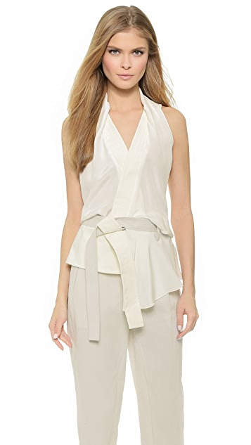d3bf880ff9 Draped Wrap Top with Belt