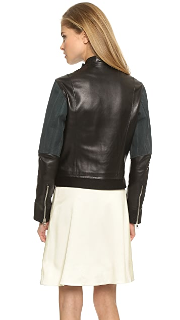 3.1 Phillip Lim Judo Stitch Jacket with Canvas Detail and Belt