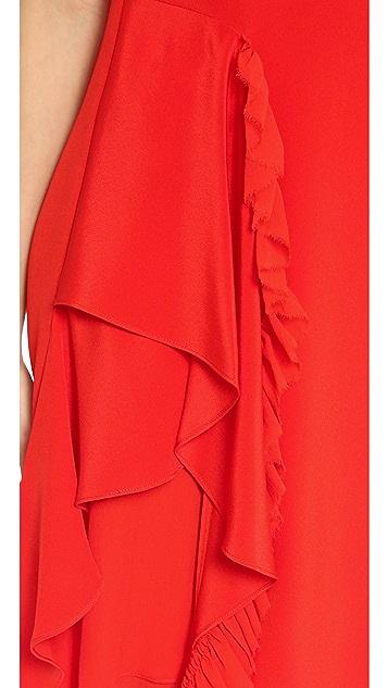 3.1 Phillip Lim Sleeveless Cascading Ruffle Dress