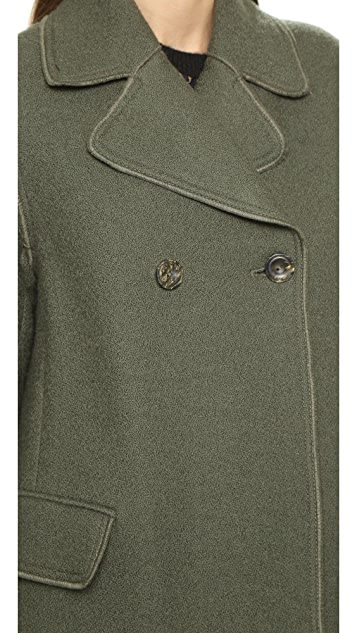 3.1 Phillip Lim Long Two Button Car Coat