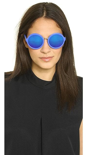 3.1 Phillip Lim Round Electric Sunglasses