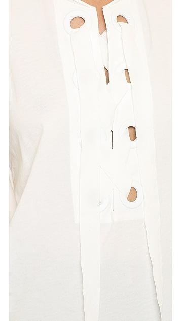 3.1 Phillip Lim 金属扣眼波西米亚风上衣