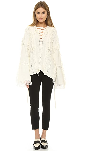 3.1 Phillip Lim Poncho with Fringe Details