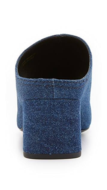 3.1 Phillip Lim Cube Denim Mules