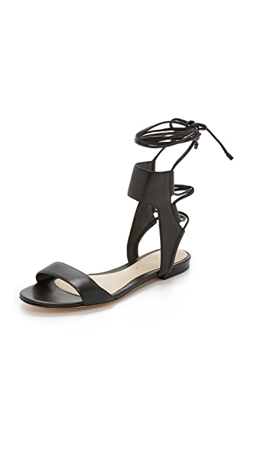 3.1 Phillip Lim Martini Ankle Lace Flat Sandals