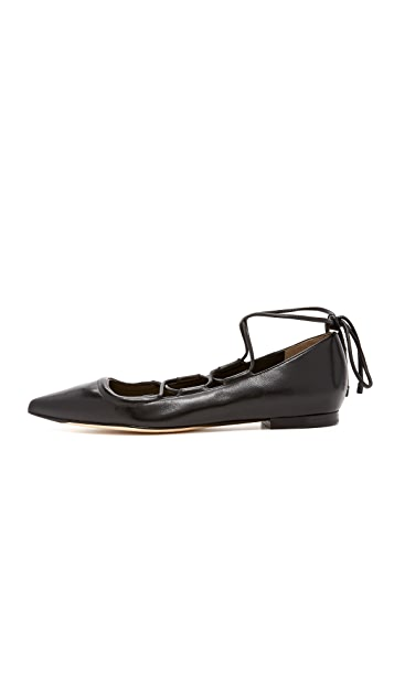 3.1 Phillip Lim Martini Lace Up Flats