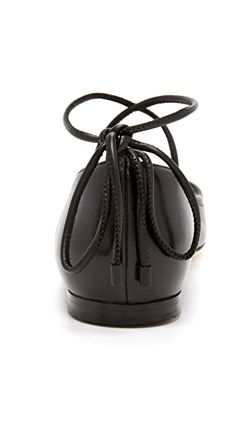 3.1 Phillip Lim Martini 系带平底鞋