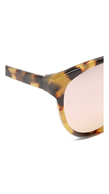3.1 Phillip Lim Oval Mirrored Sunglasses
