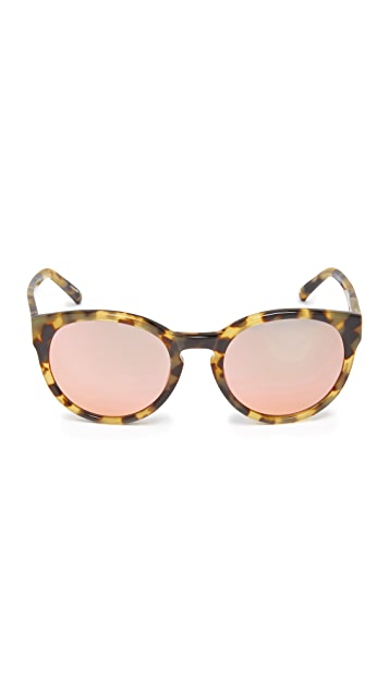 3.1 Phillip Lim Rounded Mirrored Sunglasses