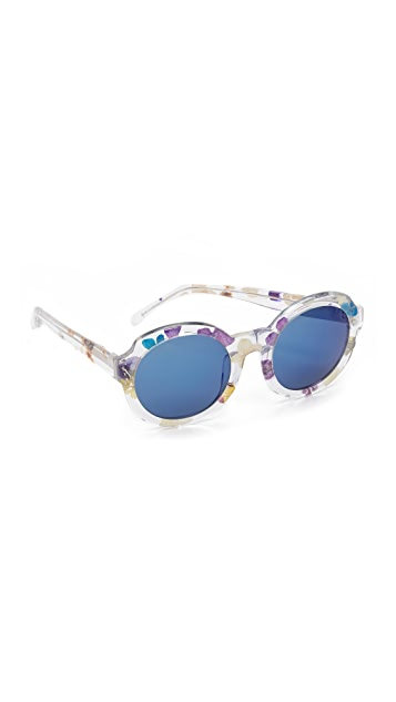 3.1 Phillip Lim Flower Inlay Sunglasses
