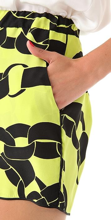 Piamita Bettie Chain Print Shorts