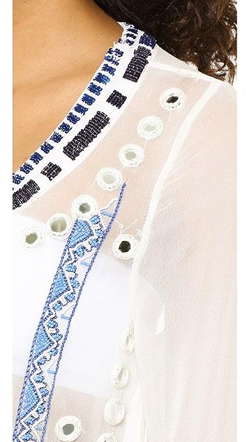 Pia Pauro Lace Up Beach Dress