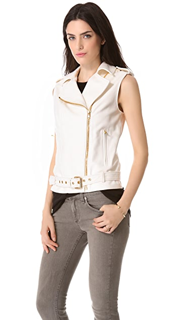 Pierre Balmain Leather Vest