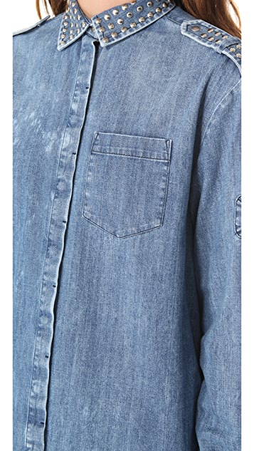 Pierre Balmain Studded Denim Shirt
