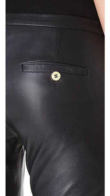 Pierre Balmain Leather Trumpet Pants