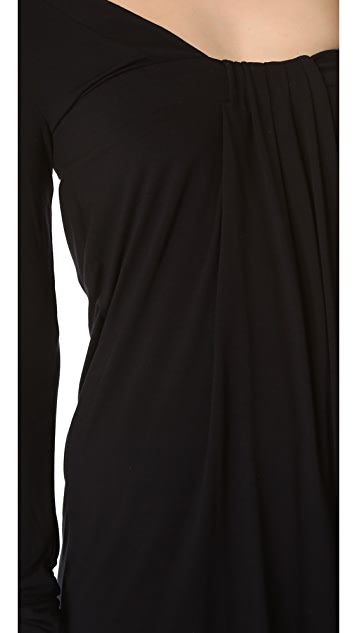 Pierre Balmain Asymmetrical Open Back Dress