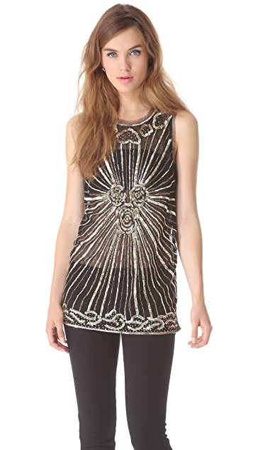 Pierre Balmain Embroidered Tank
