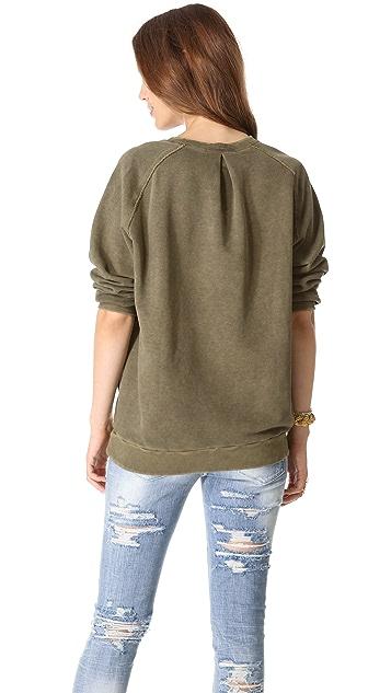Pierre Balmain Cropped Sleeve Sweatshirt