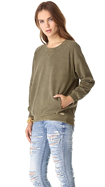 Pierre Balmain Cropped Sleeve Sweatshirt